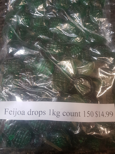 Feijoa Drops - hard lollies 1 kg