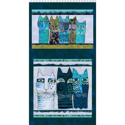 Feline Frolic Pillow Pane Teal