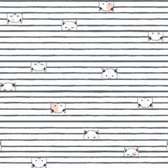 Feline Myself Kitty Stripe 845 Cream