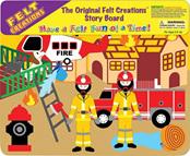 Felt Creations Story Board Fire Engine