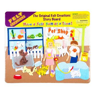 Felt Creations Story Board  Pet Shop