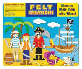 Felt Creations Story Board Pirate Ship