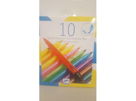 Felt Tip Brush Pens 10pc