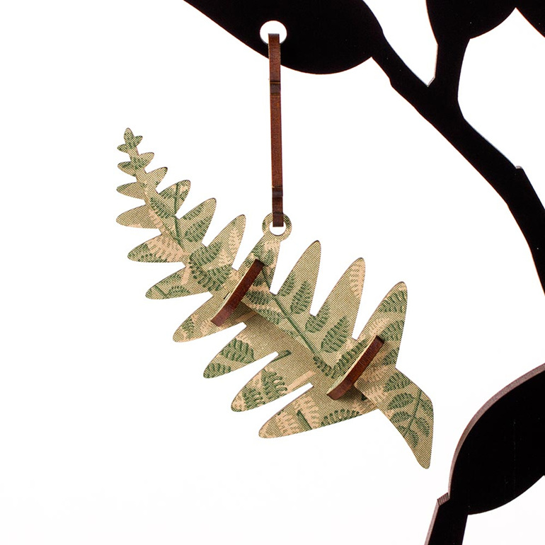 fern christmas decoration - green fern - new zealand made