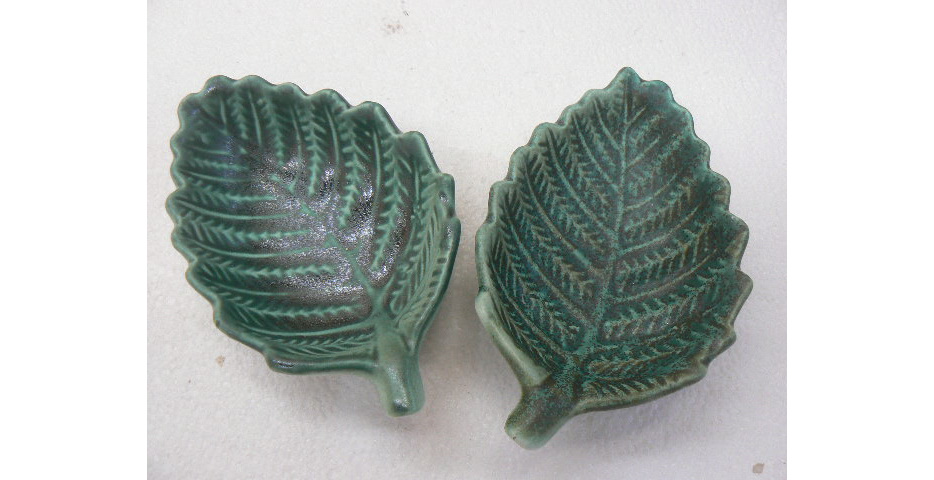 Fern dip bowl, NZ collectable, ceramics
