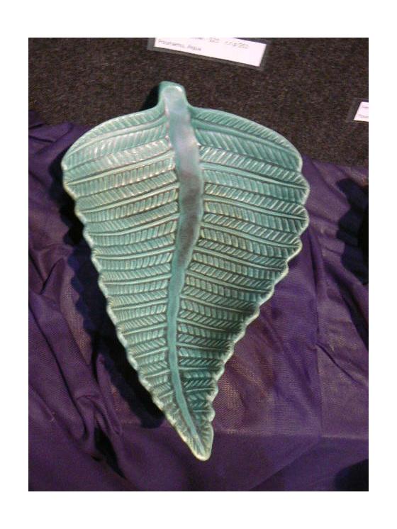Fern medium bowl, NZ collectable, ceramics