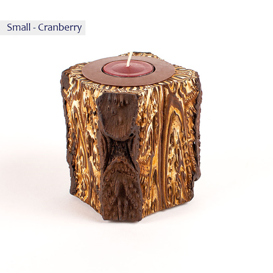 fernwood warrior candle - small - cranberry