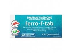 Ferro-F-Tab Iron+Folic Acid -60Tabs