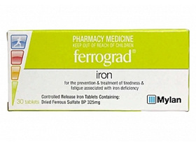 Ferrograd 325mg Tablets