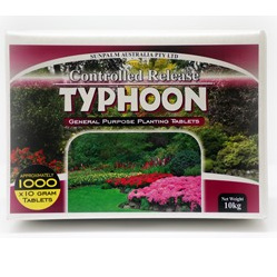 Fertiliser Tablets Typhoon 10gm planting tablets 1000 Per box