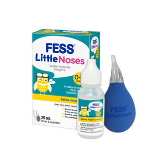 FESS® Little Noses Drops and aspirator