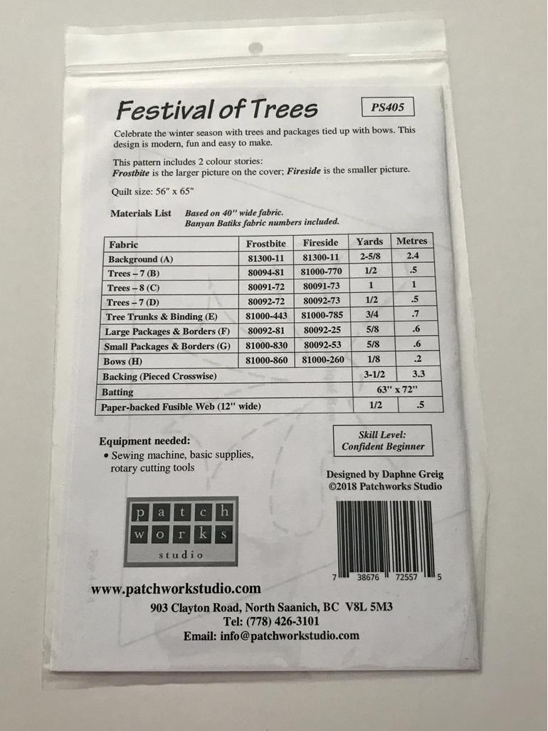 Festival of Trees Quilt