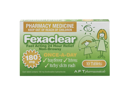 Fexaclear 180mg 10 Tablets