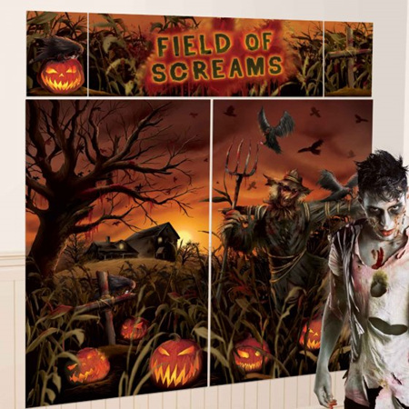 Field of Screams Pumpkin scene setter