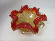 Fiery Murano Art Glass Bowl