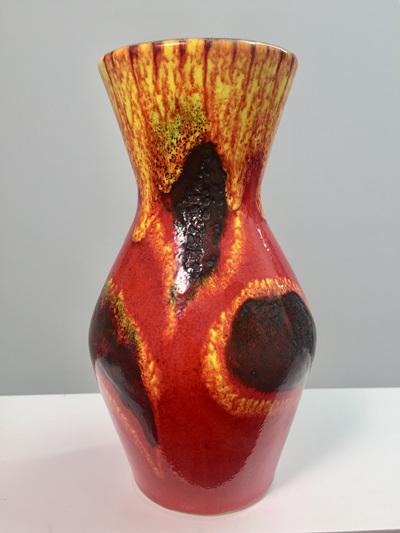 Fiery Vintage West German Vase by Scheurich