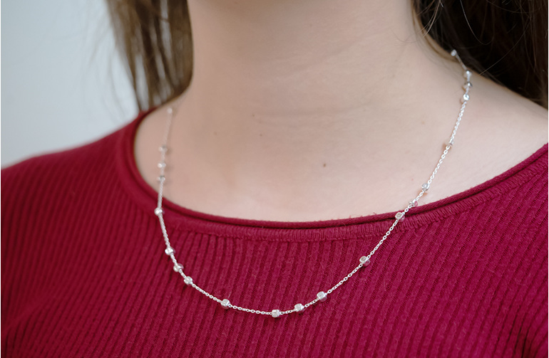 figaro cubes necklace in sterling silver