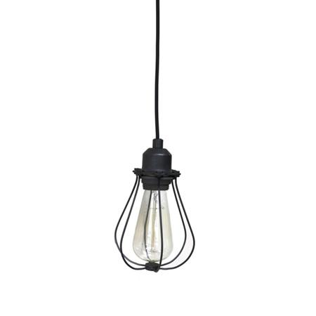 Filament cage lamp in black