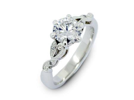 Filigree Diamond Ring