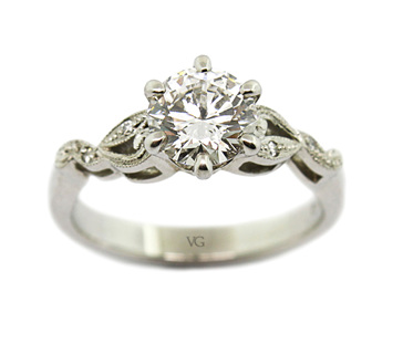 Filigree Finery Diamond Ring