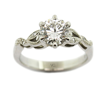 Filigree Finery Diamond Ring