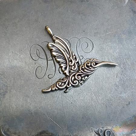 Filigree Hummingbird Charm