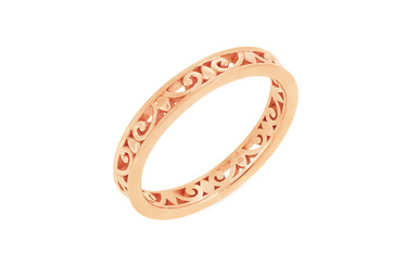 Filigree Patterned Wedding Ring