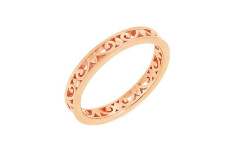 Filigree Patterned Wedding Ring