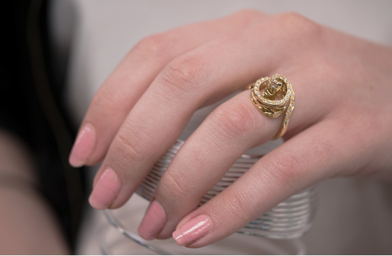 Filigree Ring, Ladies Dress Ring, Diamond Ring, Dress Ring