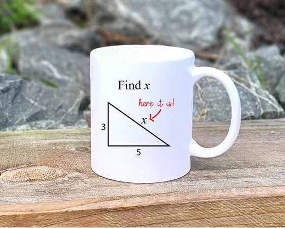 Find x, here it is Mug