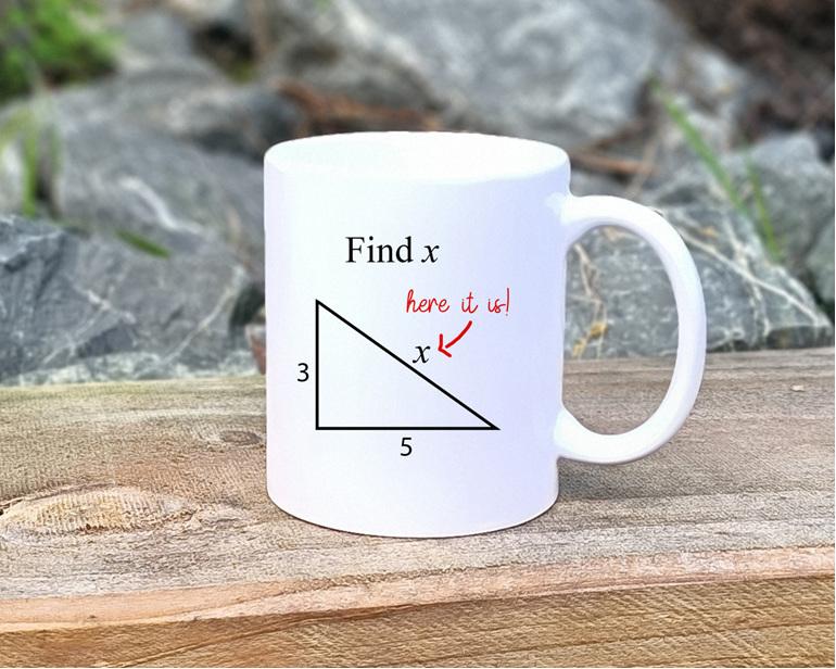 Find x, here it is Mug