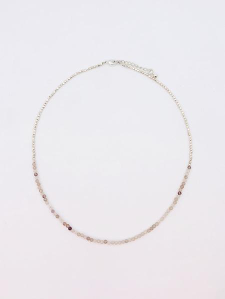 Fine Crystal Necklace - Red Quartz