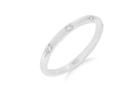 Fine Shot Set Diamond Wedding Ring