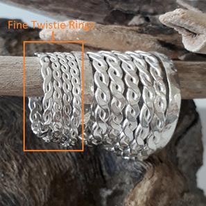 Fine Twistie Rings