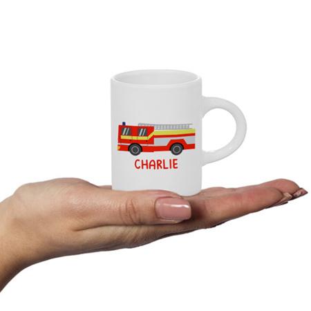 Fire Engine Personalised Fluffy Mug
