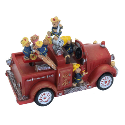 Fire engine with bears - motion & music