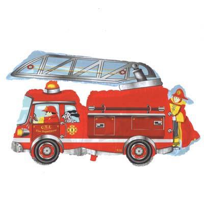 Fire truck balloon - 76cm!
