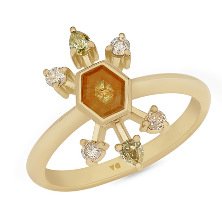 Firecracker: Orange Diamond Ring