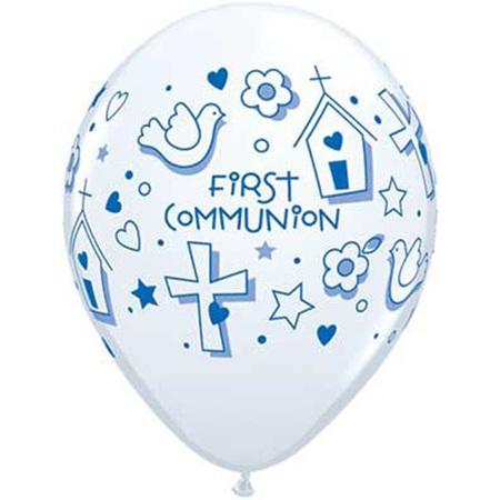 First communion latex balloon x 1