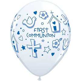First communion latex balloon x 1