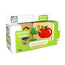 First Words Wooden Book
