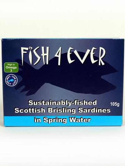 Fish 4 Ever Brisling Sardines in Spring Water 105g