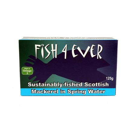 Fish 4 Ever Mackerel in Spring Water 125g