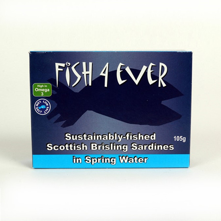 Fish 4 Ever Scottish Spratts in Spring Water 105g