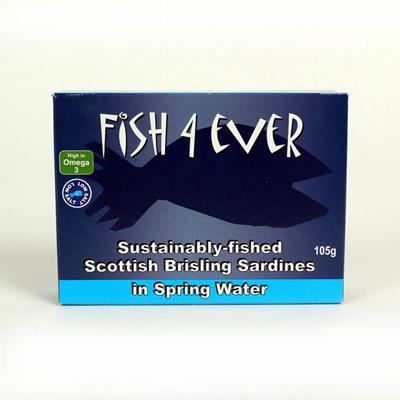 Fish 4 Ever Scottish Spratts in Spring Water 105g