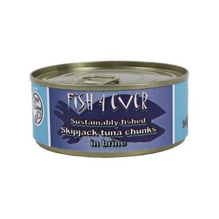 Fish 4 Ever Skipjack Tuna Chunks in Brine 160g