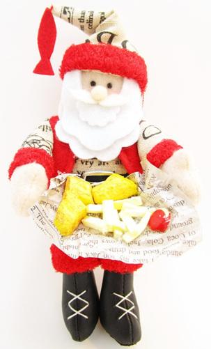 Fish & Chip Santa Tree Decoration