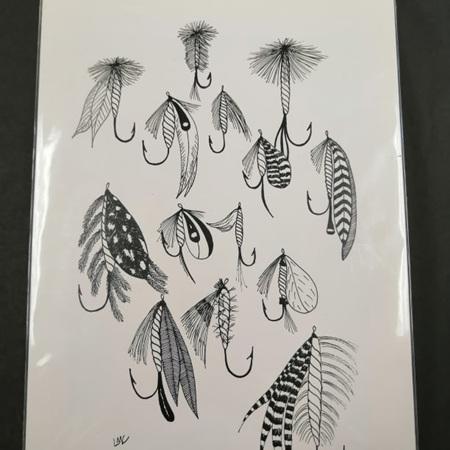 Fish Hooks Prints