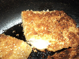 fish in macadamia crumb mix