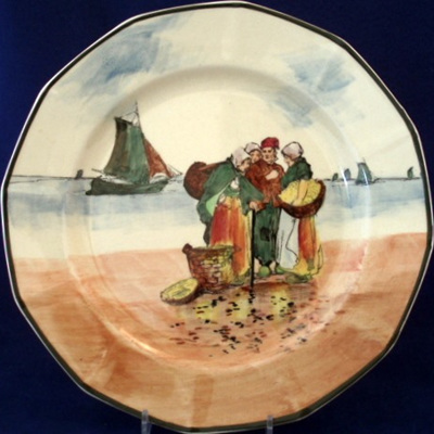 Fisher folk series plate